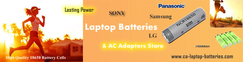 ca-laptop-batteries.com offer all model laptop batteries and ac adapters for acer, asus, apple, dell, hp, MSI, lenovo, samsung, sony, toshiba etc notebook computer